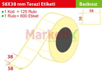 58x38 mm Terazi Etiketi